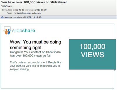 100.000 visitas a Slideshare