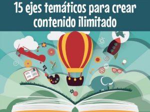15 ejes tematicos crear contenido