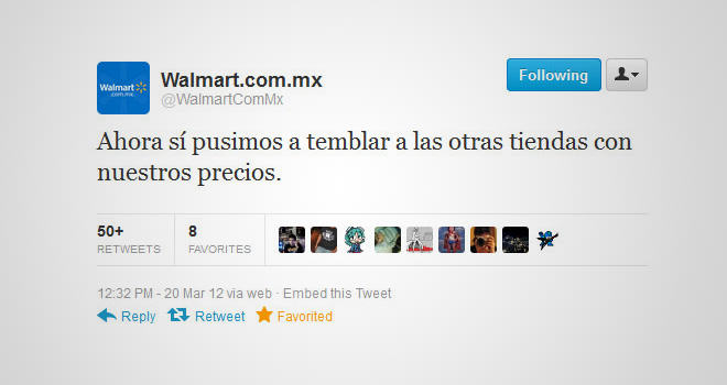 Tweet Walmart Mexico