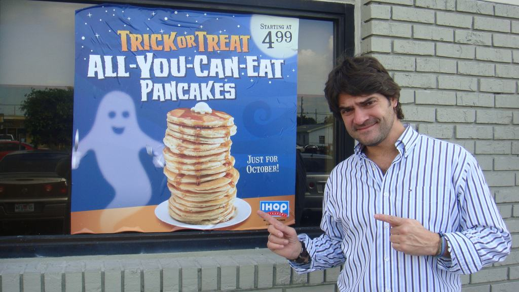 All you can eat Halloween pancakes
