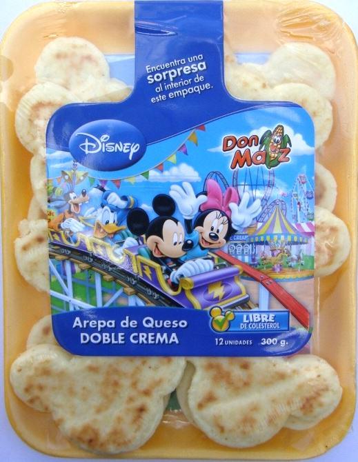 Arepa forma de Mickey