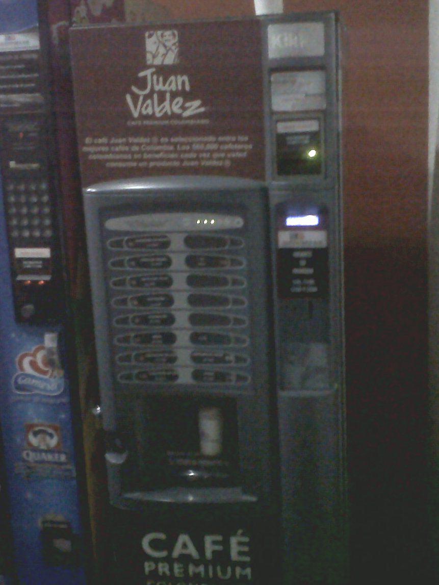 Maquina de cafe descompuesta