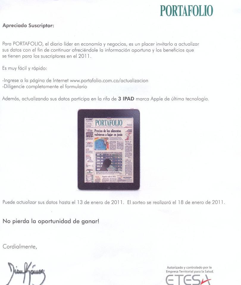 Portafolio iPad