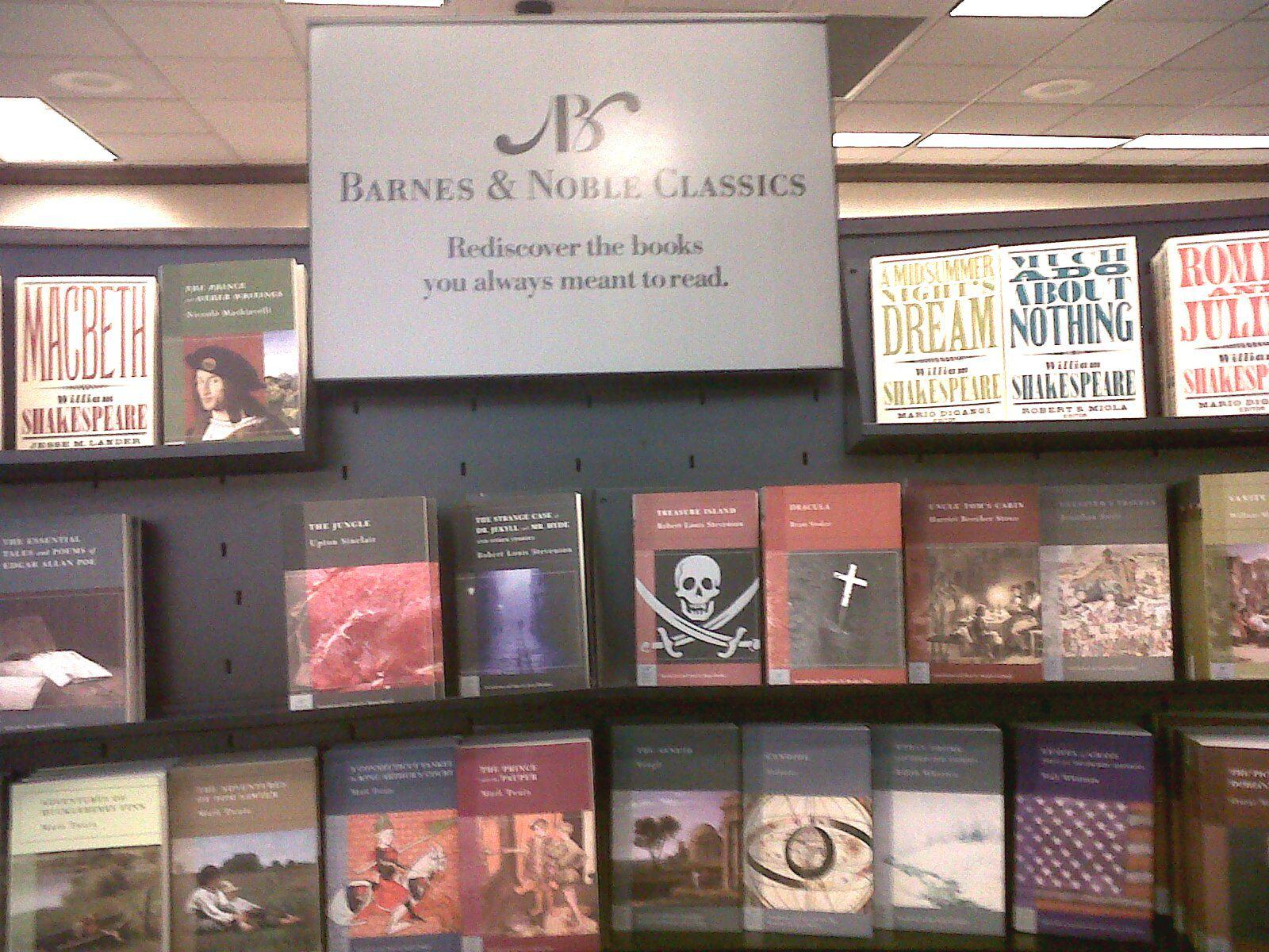 Clásicos de Barnes & Noble. Redescubra los libros que siempre quiso leer. Una forma de incrementar ventas de inventario de baja rotación.