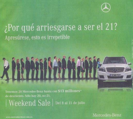 Mercedes Benz promocion