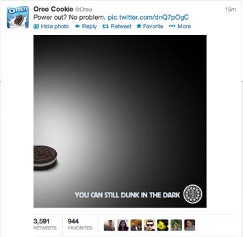 Campaña Oreo cookie