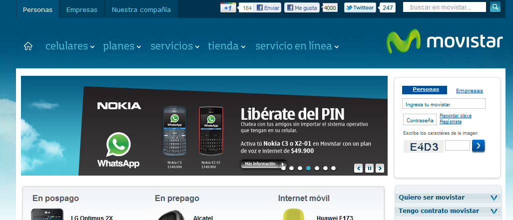 Liberate del PIN Movistar