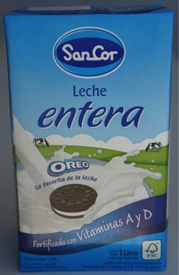 Leche Sancor con Oreo