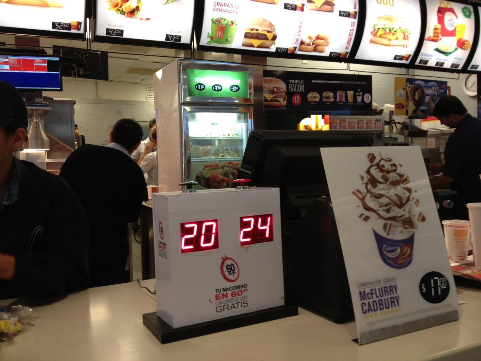 McDonalds 60 segundos