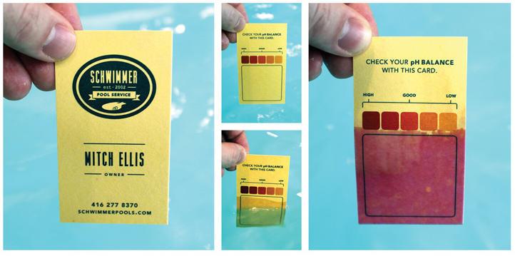 Servicios para piscinas - la tarjeta mide el ph del agua