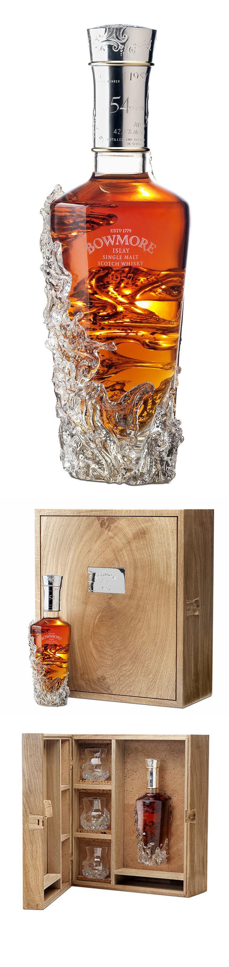 Botella de whisky que simula una capa de hielo