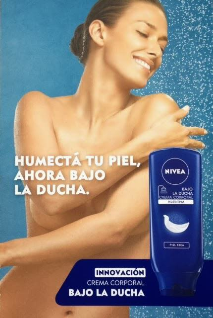 Crema corporal Bajo la ducha