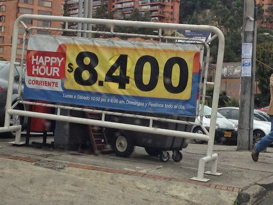 Happy Hour de gasolina