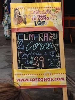 Promocion pizza en cono LQF
