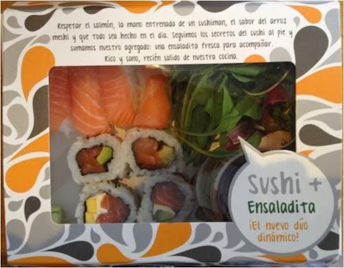 """""""Respetar el salmón, la mano entrenada de un sushiman, el sabor del arroz meshi y que todo sea hecho en el día. Seguimos los secretos del sushi al pie y sumamos nuestro agregado: una ensaladita fresca para acompañar. Rico y sano, recién salido de nuestra cocina""""."""