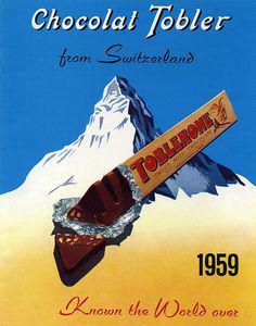 Anuncio de Toblerone con el monte Cervino de fondo