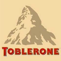 Logo de Toblerone (con el monte Cervino y la silueta del oso Bernés)