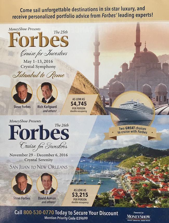 Cruceros Forbes para inversionistas