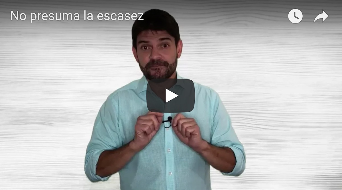 No presuma la escasez video