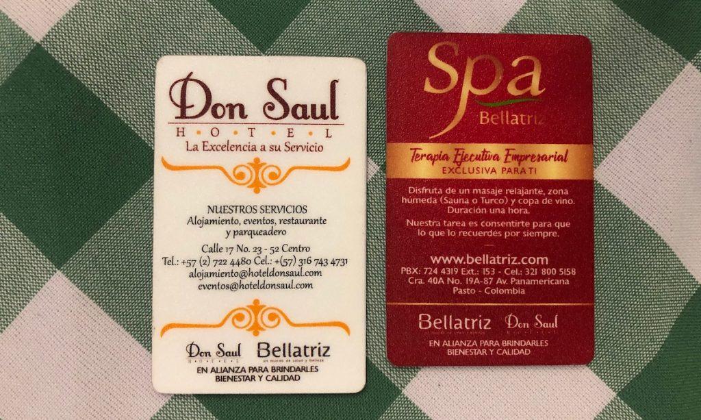 Alianza Hotel Don Saul y Bellatriz tarjetas de acceso