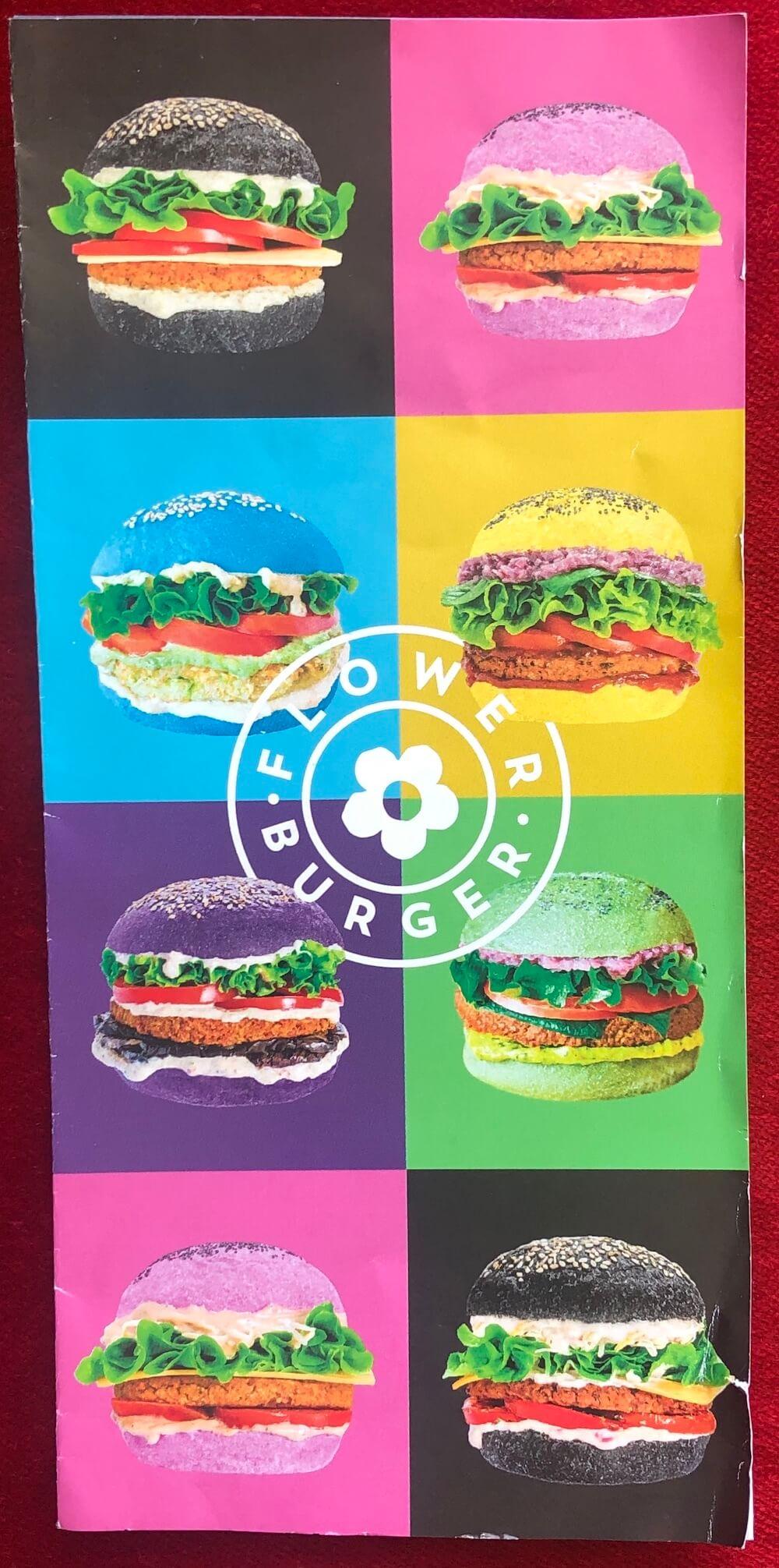 Menu de Flower Burger