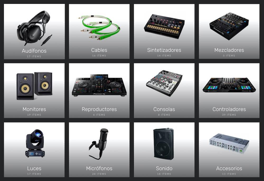 Audio Wave Categorias de producto