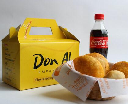 Cajas para llevar Don Al empanadas