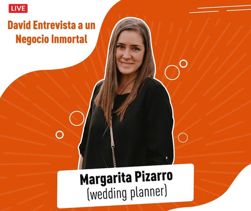 Margarita Pizarro, wedding planner inmortal