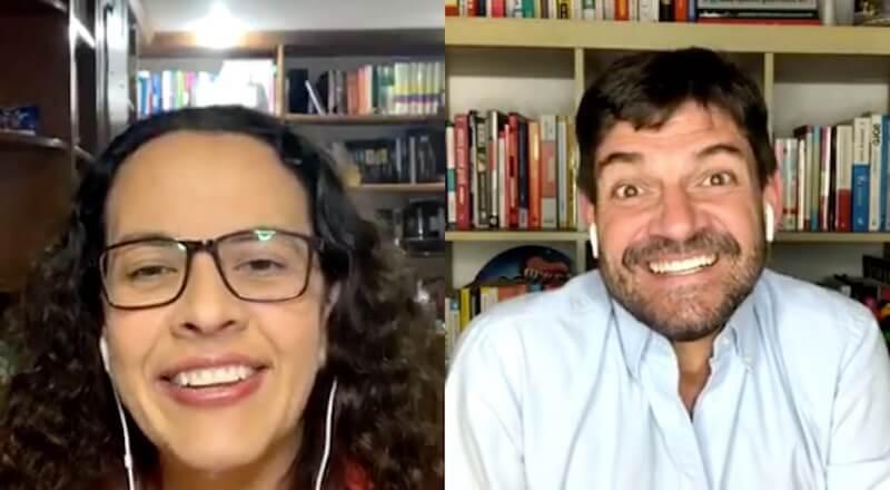 David Gomez con Ana de La Libreria de Ana