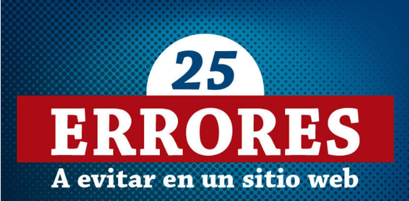 25 errores a evitar en un sitio web