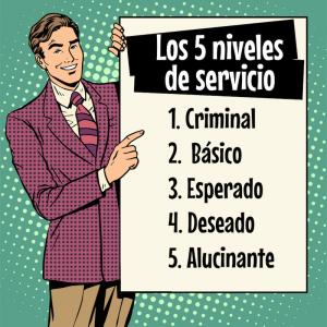Los 5 niveles de servicio