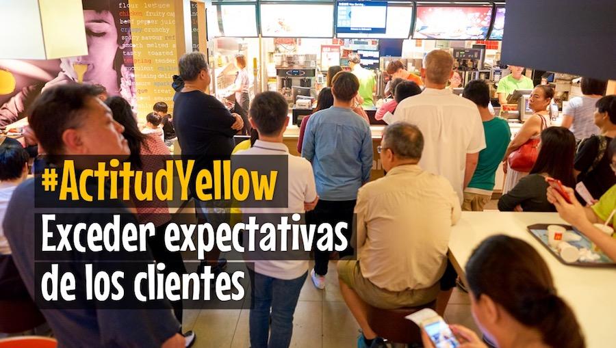 Actitud Yellow Exceder expectativas de los clientes