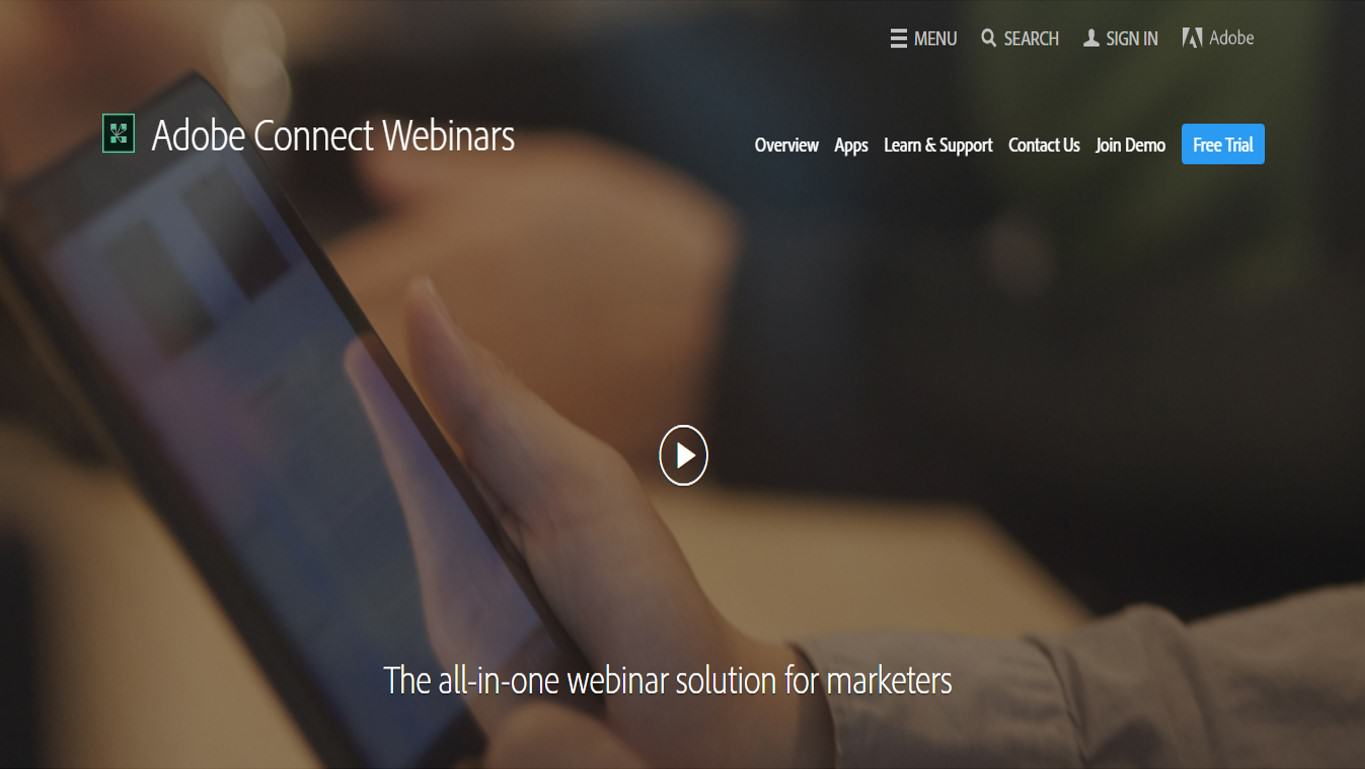 Adobe connect webinars