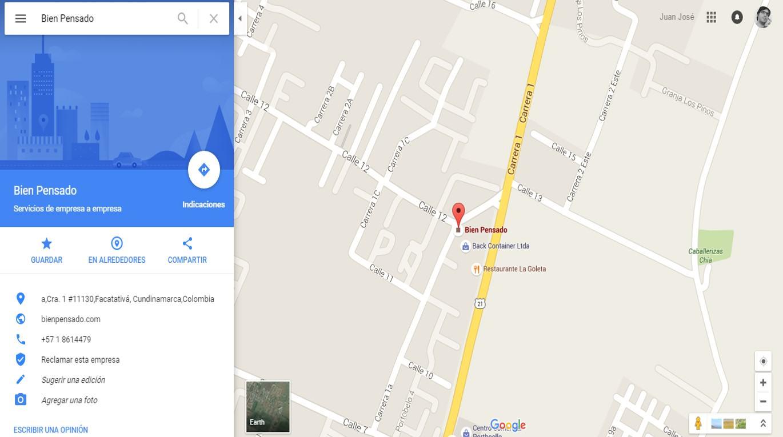 Bien Pensado en Google Maps