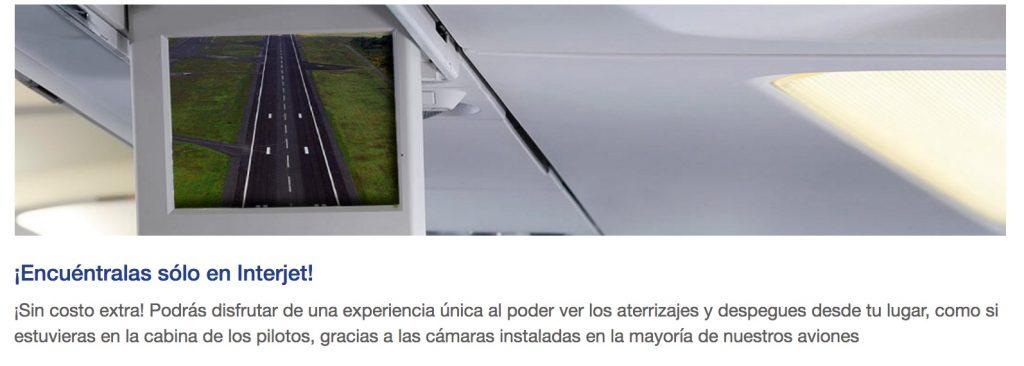 Camara externa para despegues y aterrizajes