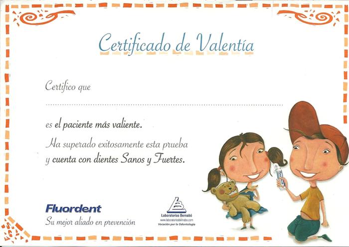 Certificado de valentia
