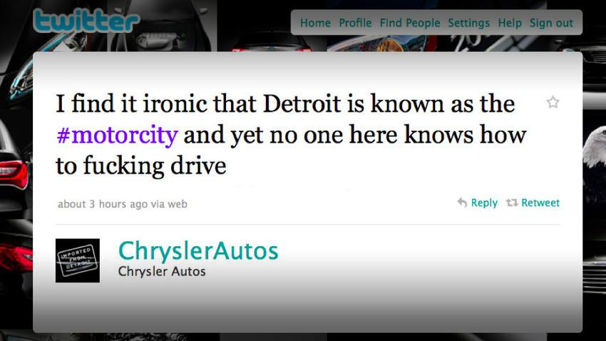 Chrysler tweet