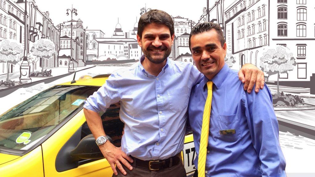 David Gomez con Ildefonso Barajas Taxista 5 Stars