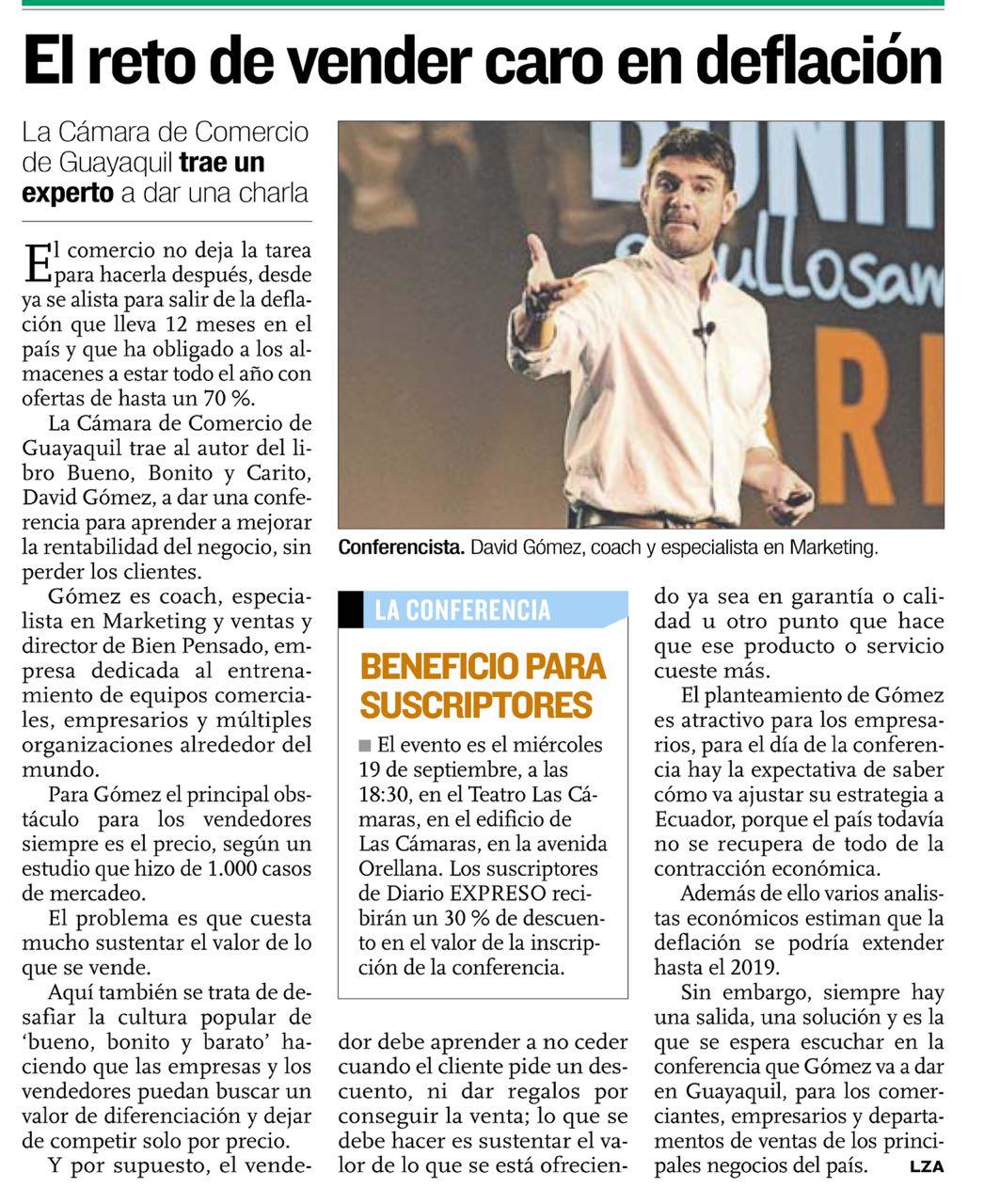 Diario Expreso Ecuador Bueno Bonito y Carito
