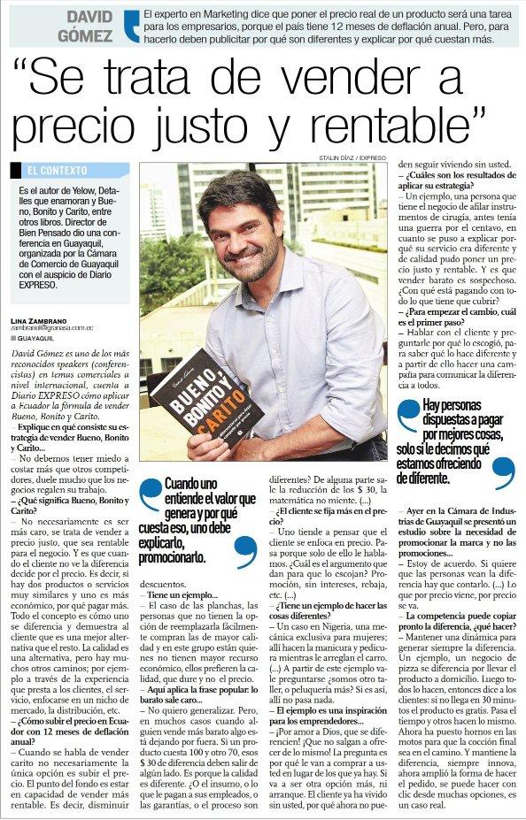 Entrevista diario Expreso