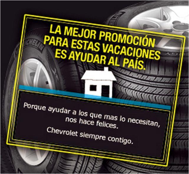 Chevrolet dona por cada vehículo que ingrese a sus talleres