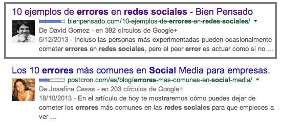 Errores redes sociales pagina web
