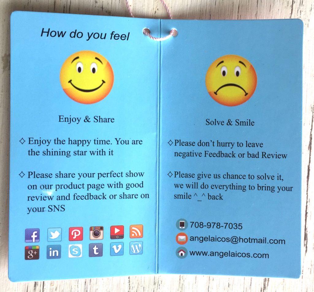 Etiqueta happy y sad face