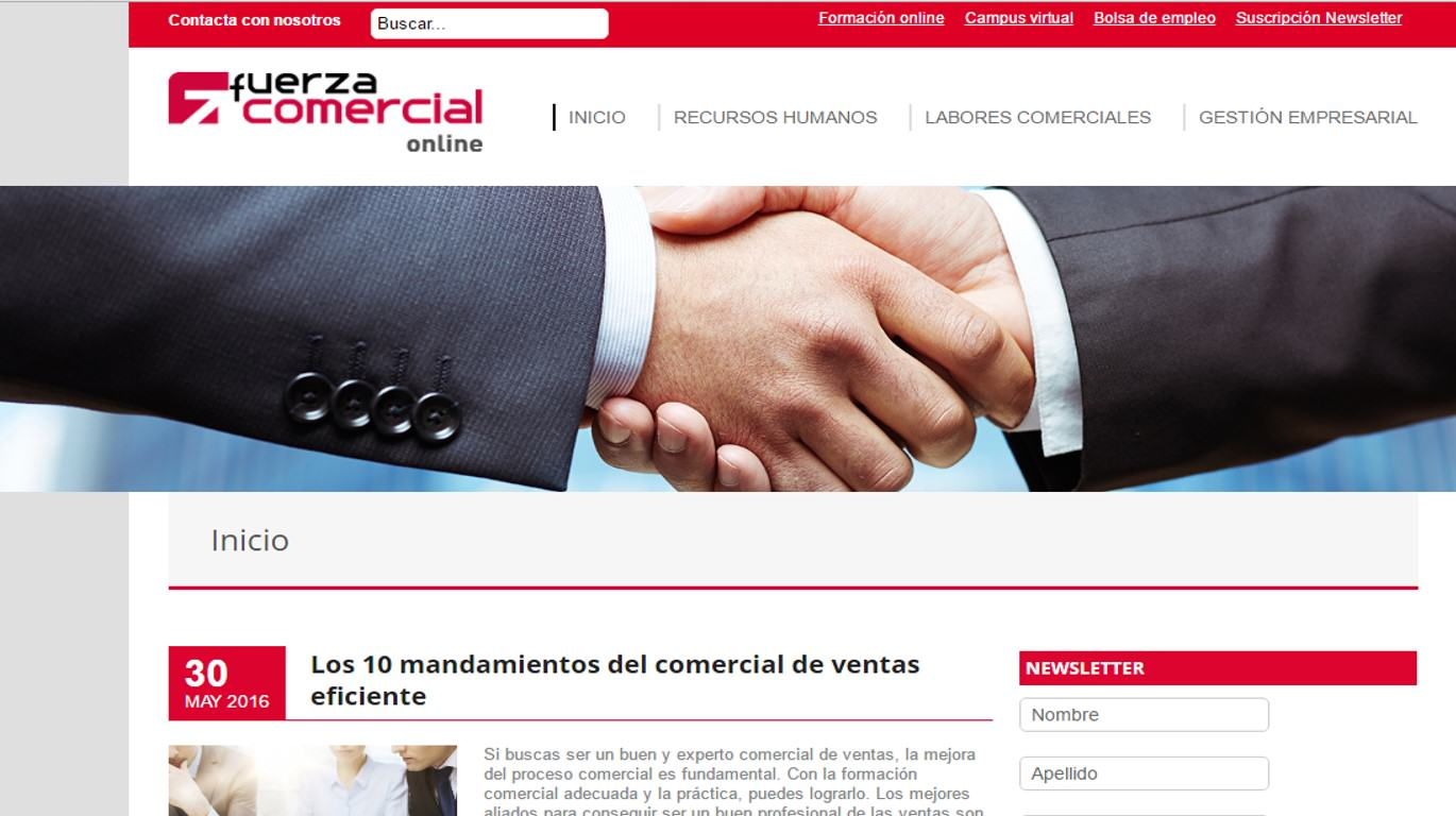 Fuerza comercial online