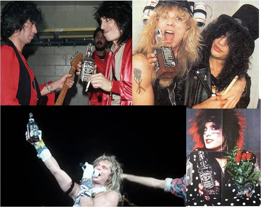 Histórica asociación de Jack Daniel's a estrellas de rock como Rolling Stones, Slash, David Lee Roth y Nikki Sixx de Mötley Crüe