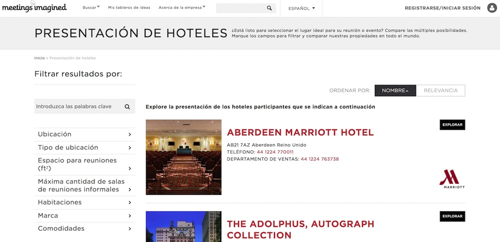Marriott Meetings Imagined - Hoteles