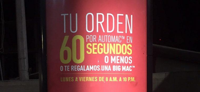 McDonalds 60 segundos Bic Mac
