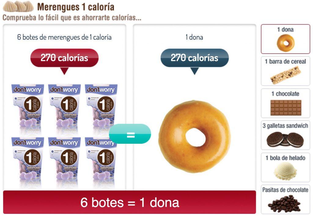 Merengues 1 caloria comparativo 1