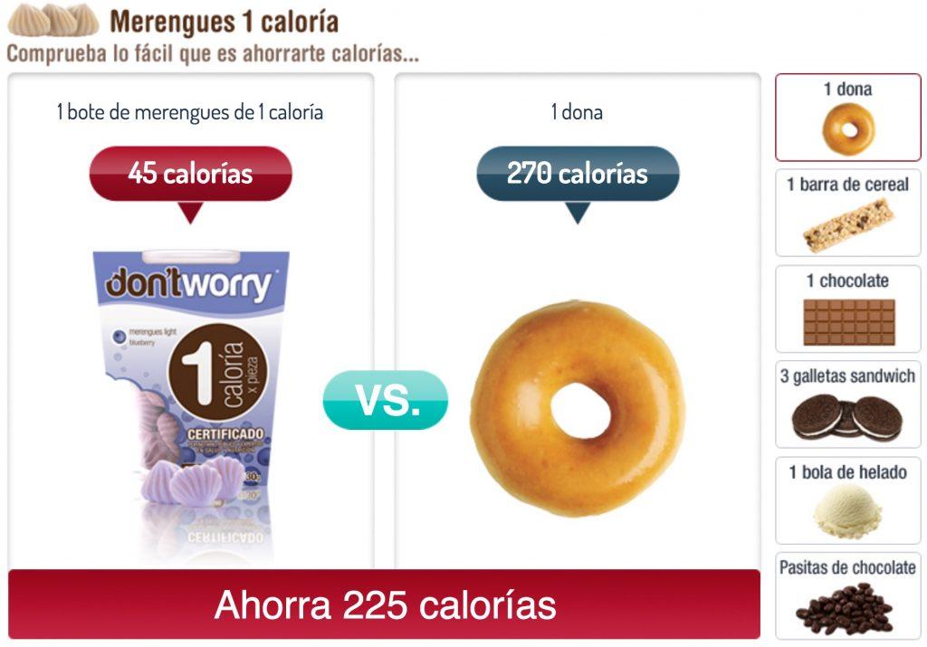 Merengues 1 caloria comparativo 2