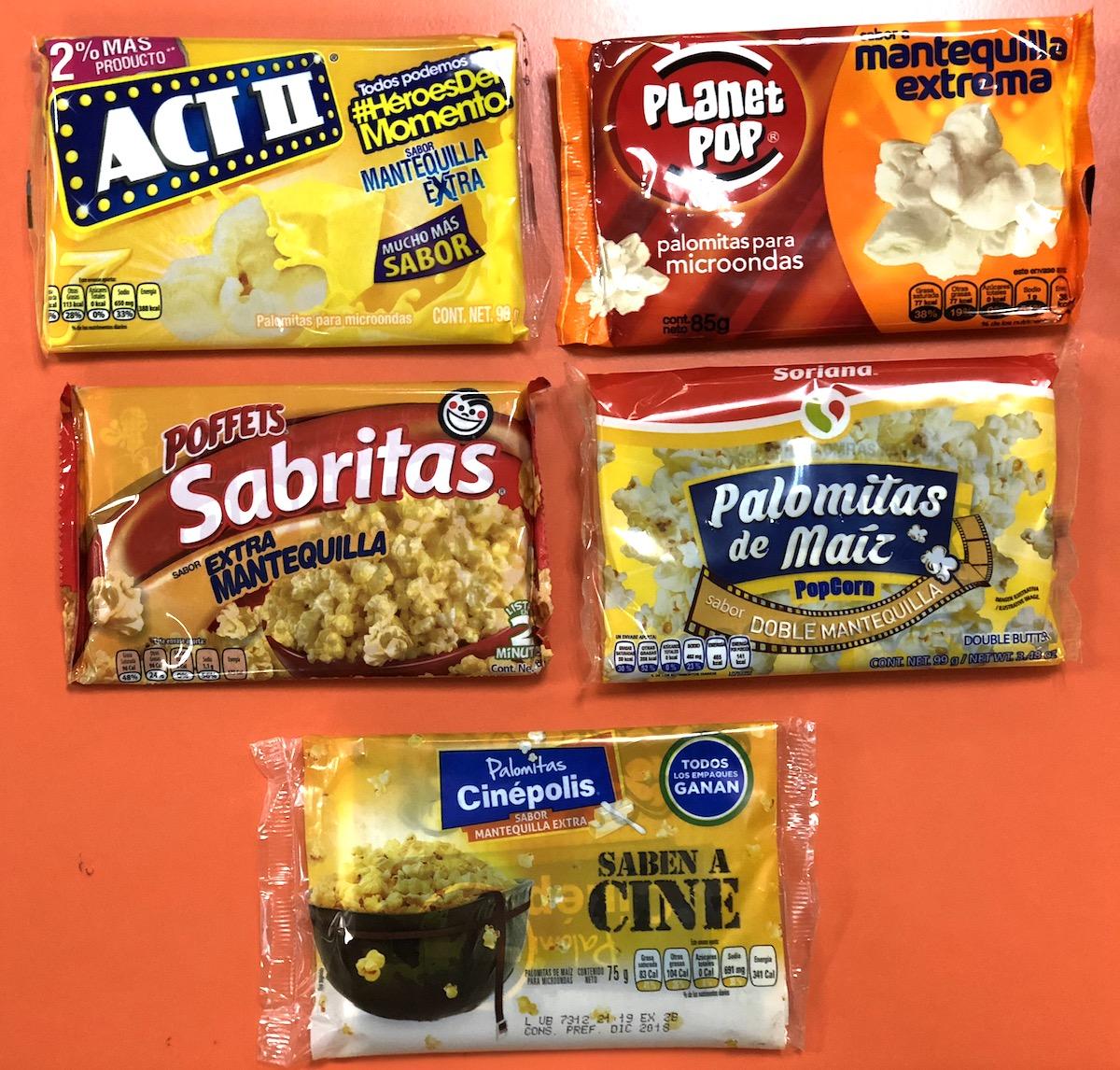 Palomitas Cinepolis vs otras marcas